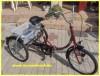 """csepel20"""" háromkerekű kerékpár bordó összecsukható"""